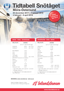 Time table Snötåget 2017/2018