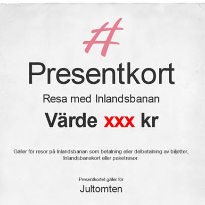 Presentkort på resa på Inlandsbanan