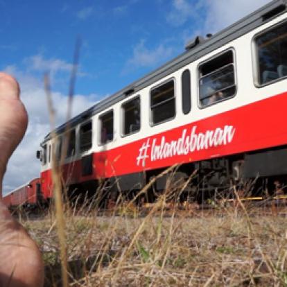 Tåg vid rälsen