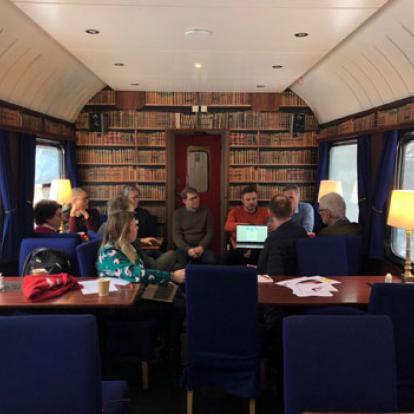 Ombord Snälltågets restaurangvagn på Fjälltågets resa till Storuman