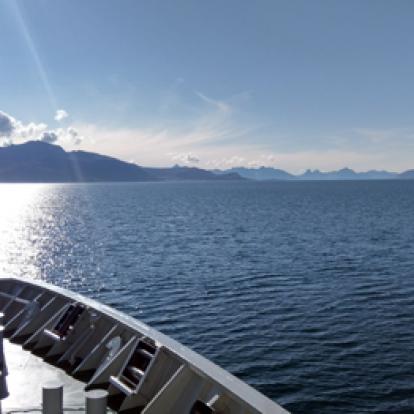 Vy från Hurtigruten