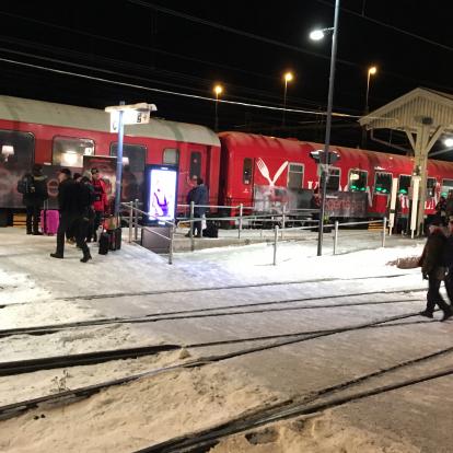 Segertåget avgår från Östersund Central