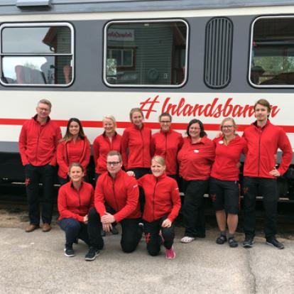 We are your train hosts on Inlandsbanan summer 2017