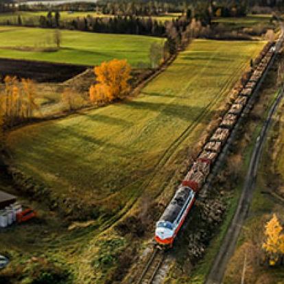 timmertransport Inlandsbanan Inlandståg