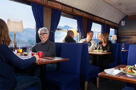 Snälltågets restaurangvagn