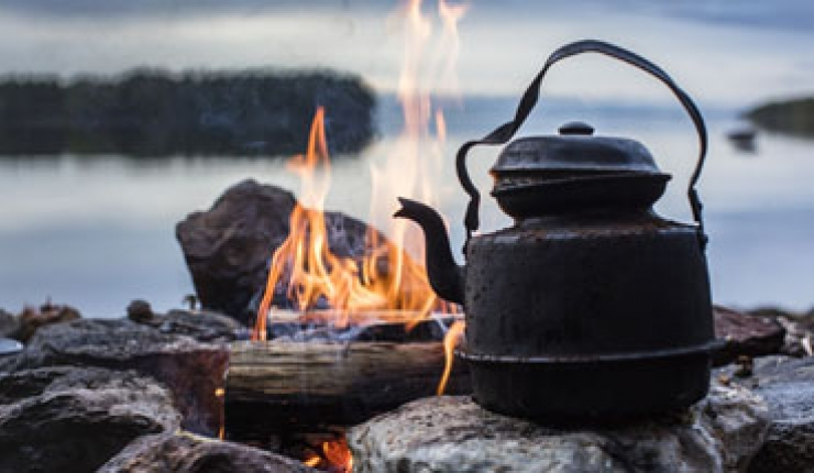 Coffee making on fire